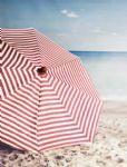 Ian Mankin Norfolk Stripe Peony Parasol