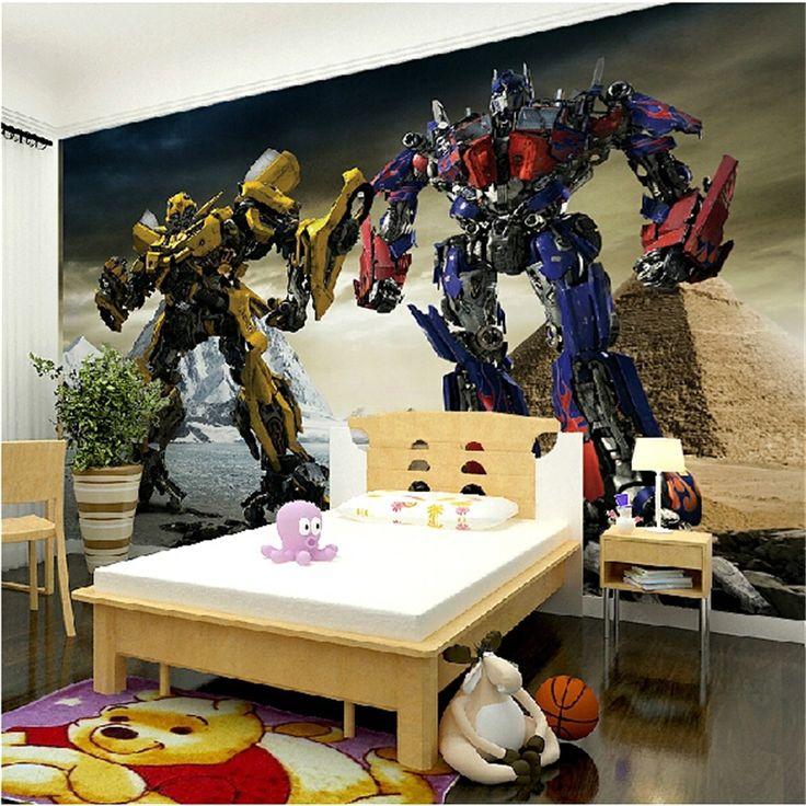 Superb Beibehang Papel De Parede Personalized Custom 3D Transformers Large Mural  Backdrop Bedroom Childrenu0027s Room Wallpaper Paper