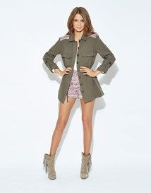 Millie Mackintosh Jaquard Trim Utility Jacket