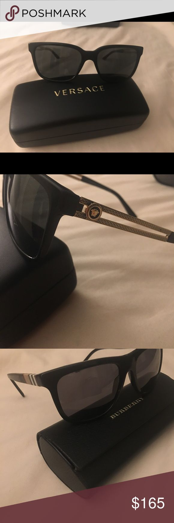 Versace and Burberry glasses I have 2 pair of sunglasses, one Versace with case and cleaning clothe, and the other Burberry with case. I'll take 150 for the Burberry and 165 for the Versace. Versace Accessories Sunglasses