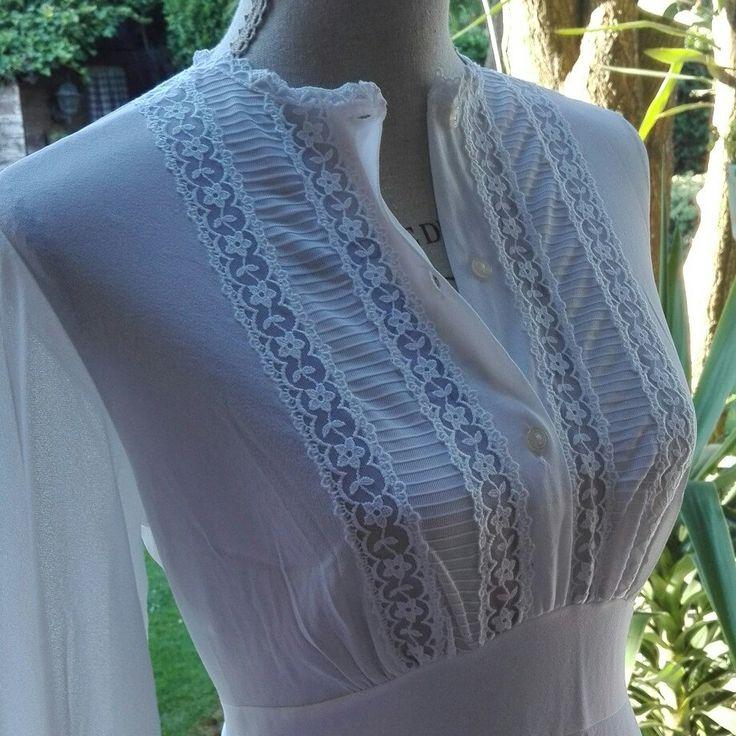 Camicia da notte shabby chic vintage bianca nightgown woman chic SPOSA