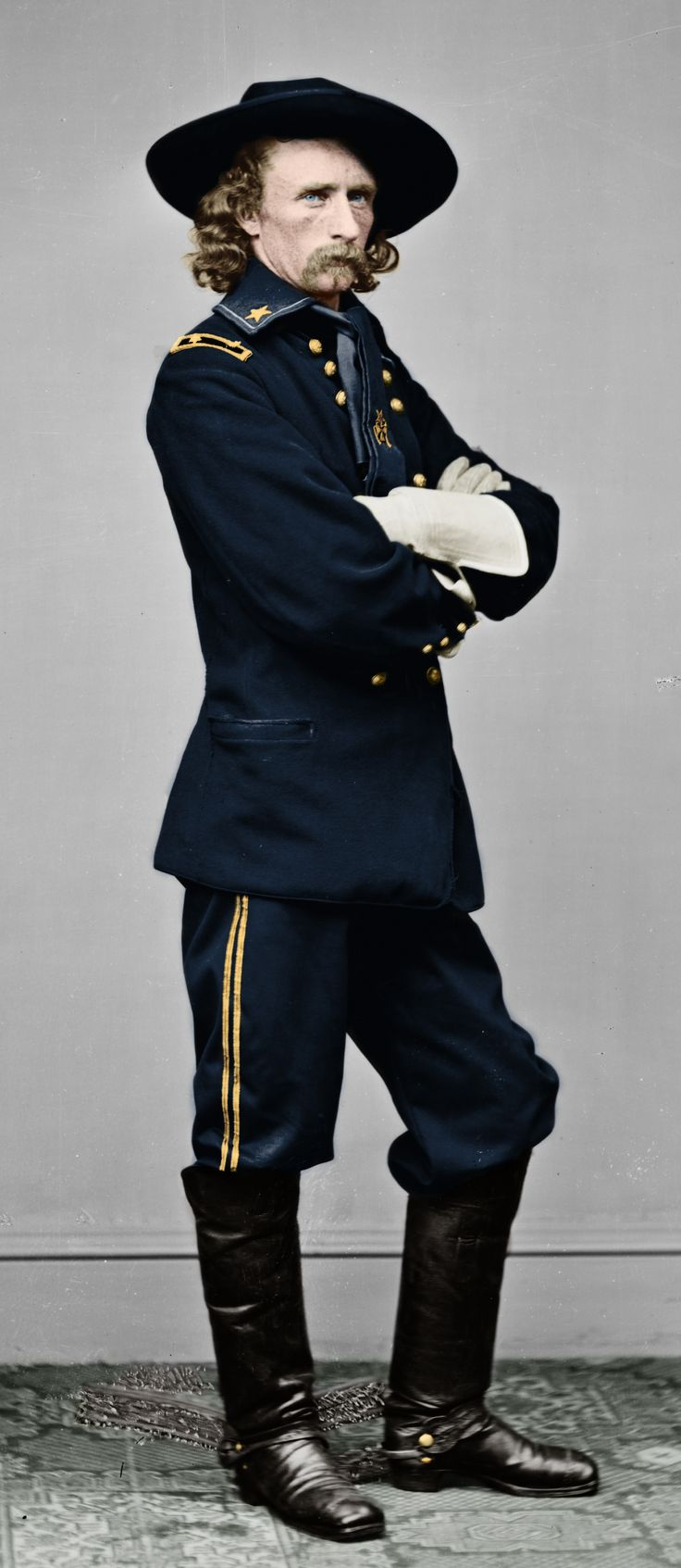 The Rock Star of the Civil War! George Armstrong Custer was the most photographed person of the war.Photographed more times than Abraham Lincoln!