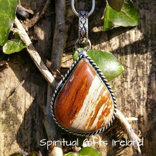 Owyhee Bruneau Jasper Pendant Visit our store at www.spiritualgiftsireland.com  Follow Spiritual Gifts Ireland on www.facebook.com/spiritualgiftsireland www.instagram.com/spiritualgiftsireland www.etsy.com/shop/spiritualgiftireland	 We are also featured on Tumbler   As human beings there is a part of us that finds our identity and meaning in the earths surface.  Grounding ourselves often, in order to feel that connection of being at one with nature and staying present in the now.  After all…