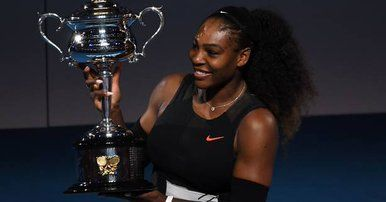 SERENA WILLIAMS Y SU TROFEO AUS OPEN 2017