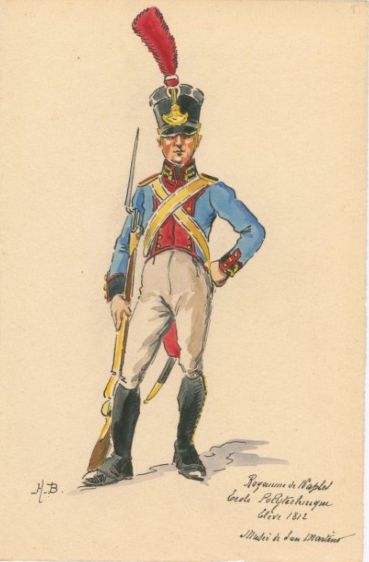 SOLDIERS- Boisselier: Royaume de Naples, Ecole Polytechnique: Elvève, 1812, by H. Boisselier.