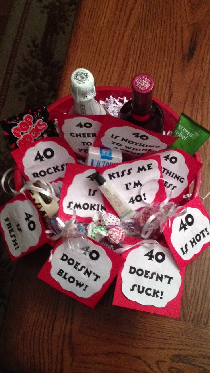 Best Gift Baskets Images On Pinterest Gift Ideas Birthday - 40th birthday party favors ideas