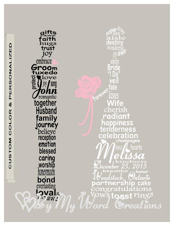 13 best wedding word art images on Pinterest
