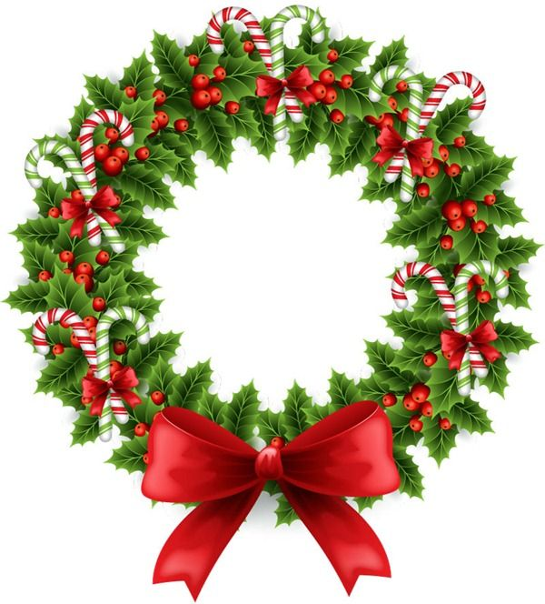 Beautiful Christmas wreath illustrator vector graphics