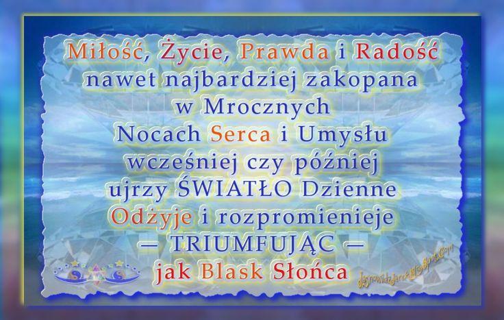 Miłość Życie Prawda Radość Odżywa jak Blask Słońca  www.JasnowidzJacek.blogspot.com