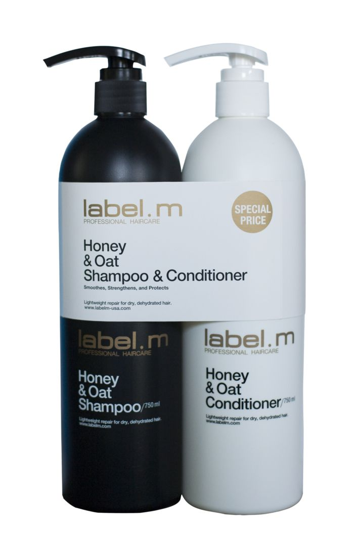 label.m Honey & Oat Shampoo and Conditioner from the #CLEANSE collection #honey #oat #cleanse #hair #labelm