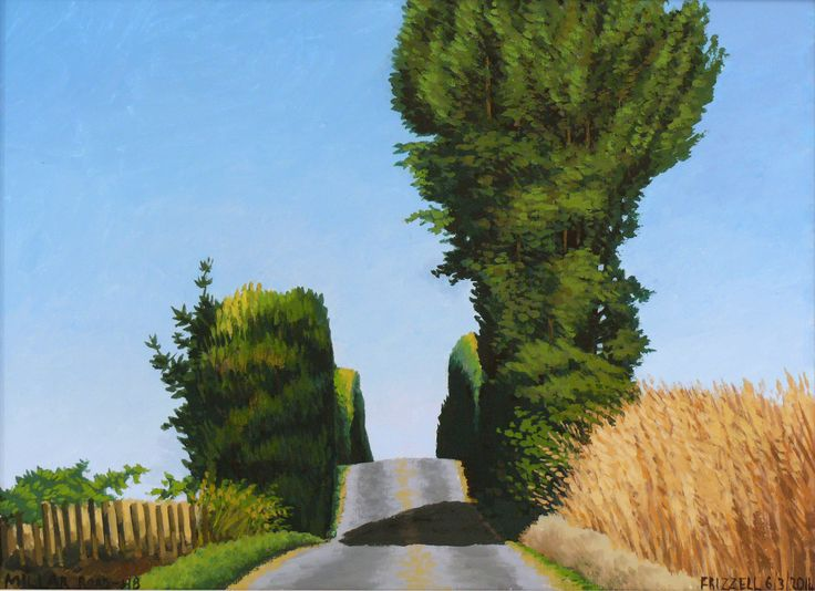 Dick Frizzell, 2014, Millar Road-HB, acrylic on canvas, 520x670mm