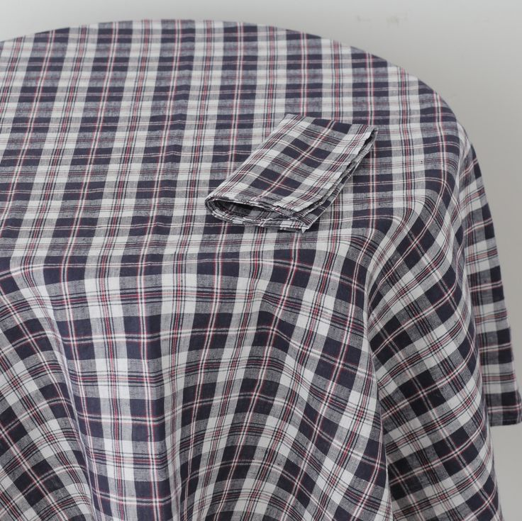 Tablecloth: Navy Red Check
