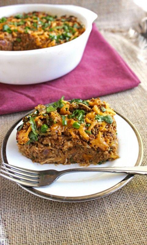 BBQ Chicken Spaghetti Squash Casserole- Food Faith Fitness