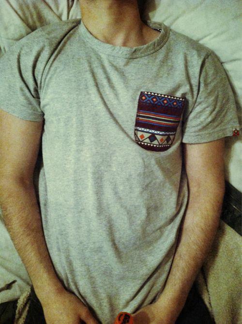 Aztec print pocket