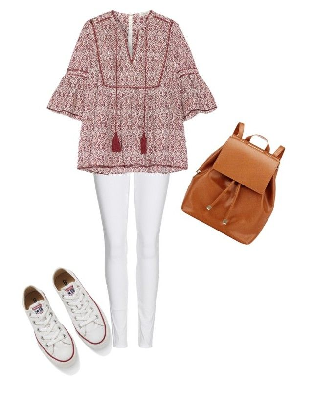Back to school look by creece-massoudi on Polyvore featuring polyvore, fashion, style, Talitha, Burberry, Converse, Barneys New York and clothing