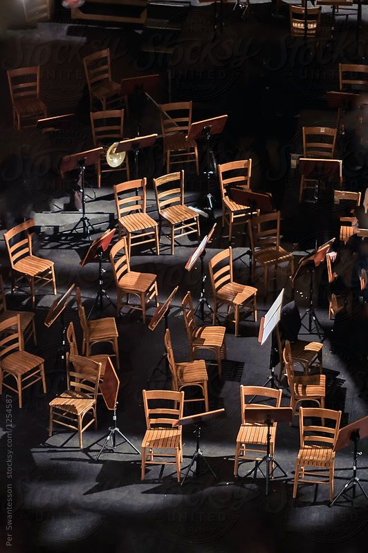 Chair on a symphony stage by Per Swantesson for Stocksy United