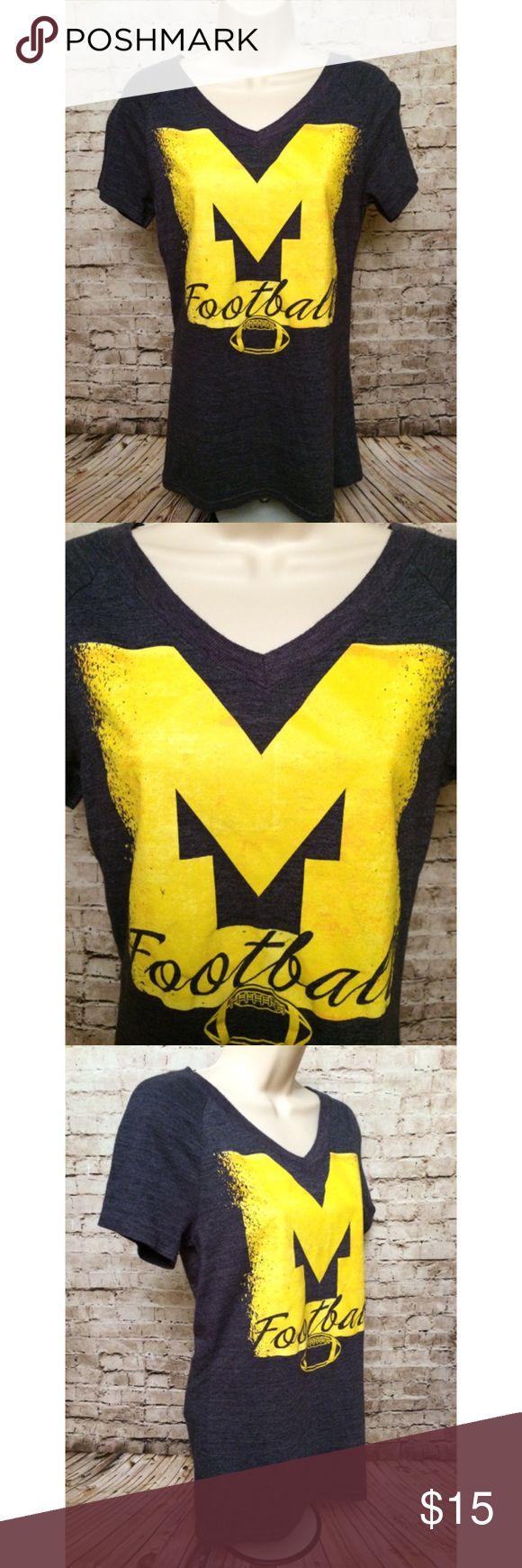 Adidas University of Michigan football t-shirt Adidas University of Michigan football t-shirt.  Sz medium.  Smoke free home Adidas Tops Tees - Short Sleeve