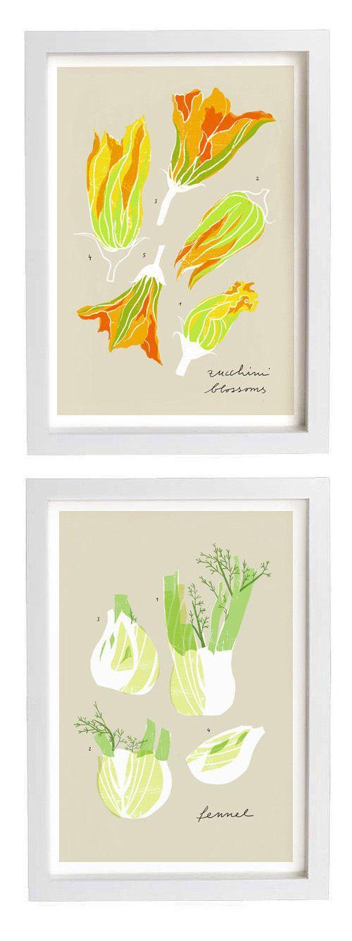 Zucchini blossoms + Fennel