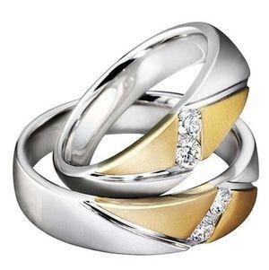 cincin perak couple lapis rhodium emas dan putih