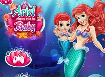 Ariel Mermaid and Baby