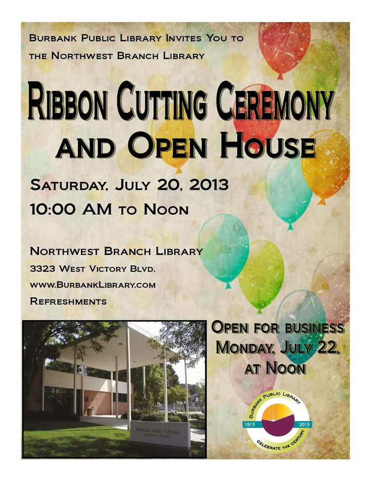 22 best ribbon cutting images on pinterest cuttings grand come celebrate the re opening of northwest branch library at the ribbon cutting ceremony open house on saturday july 20 from stopboris Gallery