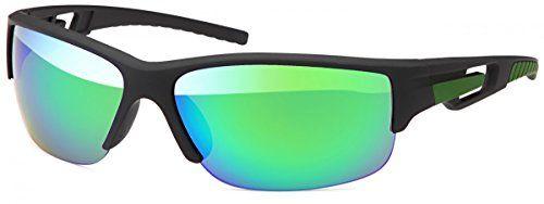 Sportliche Radler Biker Sonnenbrille Aviator Fliegerbrille Radsport Sonnenbrille, Rahmenfarbe:Grün
