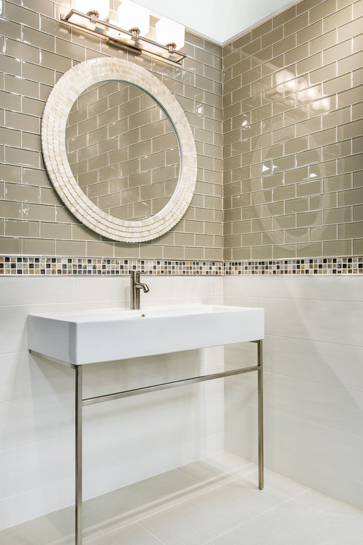 529 best bathroom images on pinterest bathroom ideas bathroom a subtle yet stunning bathroom wall tile yes please this glass subway