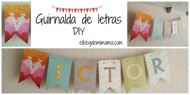Guirnalda de letras DIY