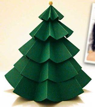 Árvore de Natal de papel, pensando em fazer...