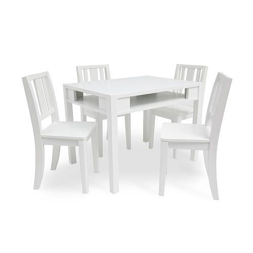 Solutions by Kids R Us Storage Table and 4 Chairs - White