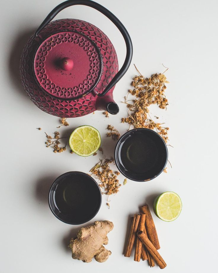 Teapot flatlays, ginger tea,  herbal tea, lime, healthy, zen, tea time