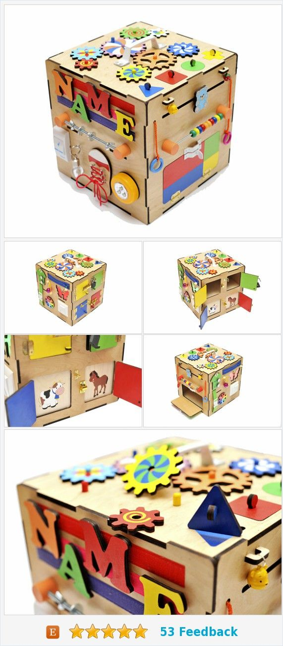 Custom Name Toy For Toddler Kids Personalized Busyboard Baby Wooden Montessori Board Dementia Activity Busy Cube Latch