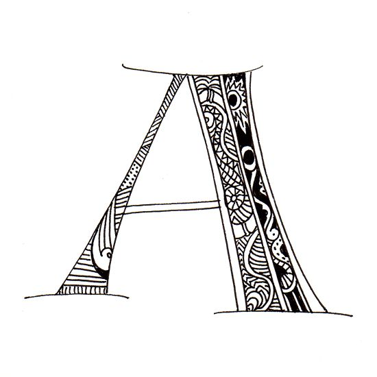 Polynesian Style Alphabet, with Kaake patterns. Letters ... |Hawaiian Letter Tattoos