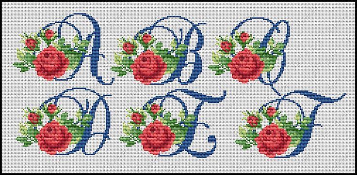 4742 Best Alphabets/Initial Stitchery Images On Pinterest