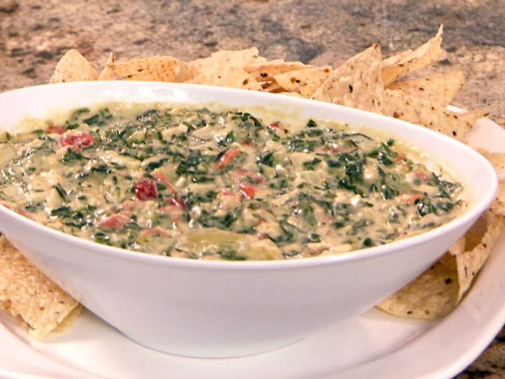 Gina's Spinach Dip recipe from Patrick and Gina Neely via Food Network