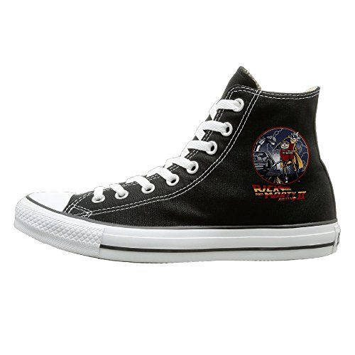 HoHo Rick And Morty Doc And Marty B2tF Back To The Mcfly Future Cool Unisex Black High-tops Canvas Shoes