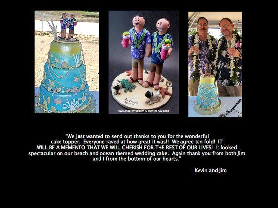 Gay's Wedding Statue    Gay Men's Wedding Cake Topper custom created for you!     $235   #magicmud   1 800 231 9814   www.magicmud.com