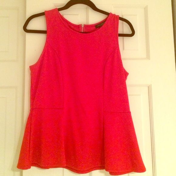 Red peplum top Red peplum top by Green envelope- size L Green Envelope Tops