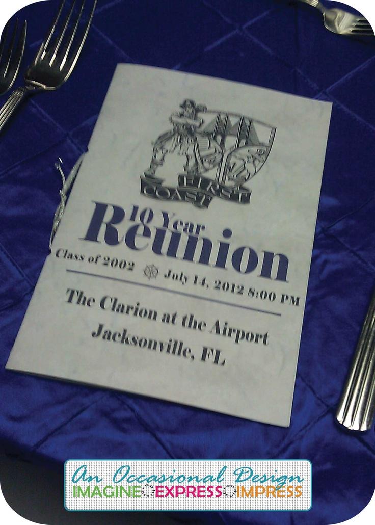 High School Reunion Programs