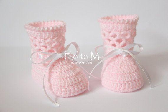 Uncinetto scarpette per neonati, bambino scarpe, stivali, pattini della neonata…