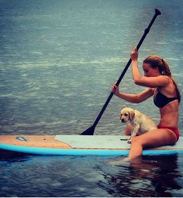 What I like about SUP is you can sit, stand, or lay down, so versatile!  | Klave's Marina has been serving the boating community on Portage Lake in Pinckney, MI for more than 50 Years! Call (734) 426-4532 or visit our website www.klavesmarina.com for more information!