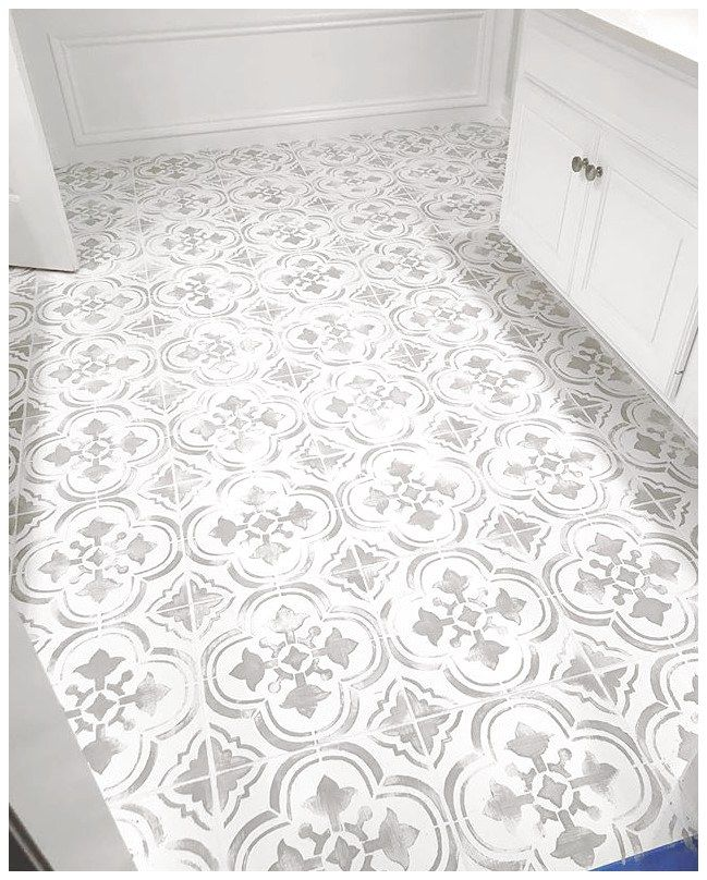 Different Designs For Your Floor Using Ceramics With Images Tile Stencil Painting Tile Ceramic Floor Tiles