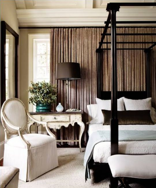 .BEDROOM TIP - Feng Shui does not recommend putting a bed in front of a window. If there is no other option, add a solid headboard and draperies behind to mimic a wall. This room adjusts the situation nicely.