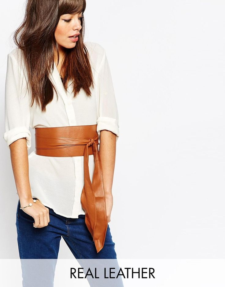 Black+&+Brown+Premium+Leather+Oversized+Obi+Belt