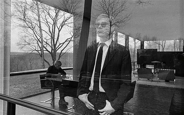 Andy Warhol at The Glass House, 1964-5  by David McCabe