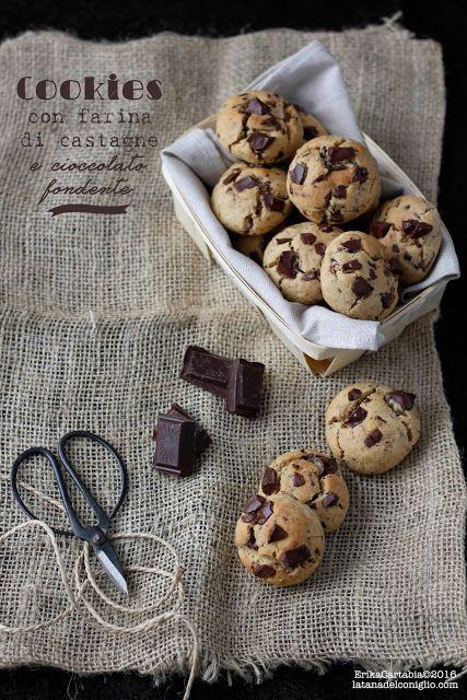 La tana del coniglio: Cookies con farina di castagne e cioccolato fondente