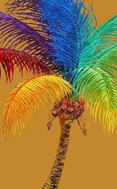 palm tree paintings - Google Search