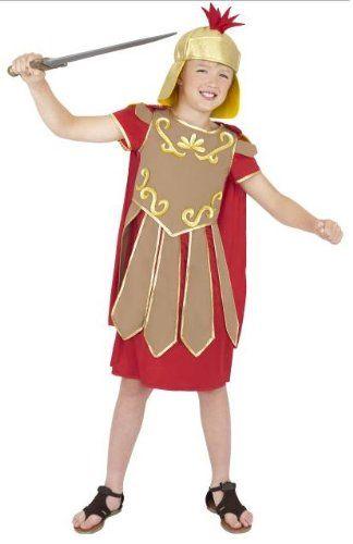 ROMAN GREEK SOLDIER WARRIOR BOYS SCHOOL FANCY DRESS COSTUME 7-9 YEARS MEDIUM CHILD'S GLADIATOR CURRICULUM OUTFIT: Amazon.co.uk: Clothing