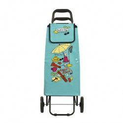Poussette vinyle Chariot de plage - bleu