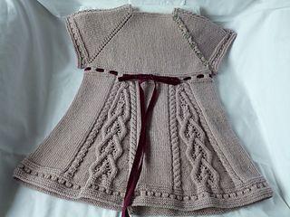 Emlyn Dress, Knit from the top down w/ raglan sleeves
